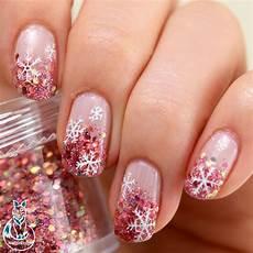 glitter gradient snowflake nail art born pretty review