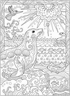 coloring pages for adults sea animals 17312 welcome to dover publications ch fanciful sea coloriage coloriage mandala