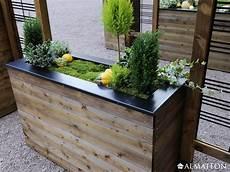 Bac 224 Fleurs Design En Bois Collector 133 L Almateon