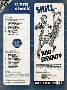 everton v leeds united match programme team sheet