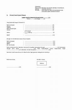 contoh surat kuasa khusus wajib pajak orang pribadi