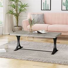 Faux Wood Coffee Table shop alotian coffee table modern contemporary industrial