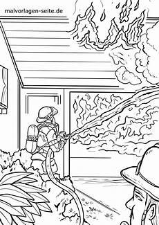 malvorlage feuerwehr hausbrand kostenlose ausmalbilder