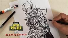 como dibujar a ragnarok fortnite cunsart how to draw