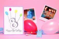 Diy Fingerabdruck Geburtstagskarten Geburtstagskarte