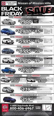 Black Friday Specials Nissan Of Mission