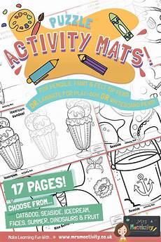 worksheets pets 19026 puzzle activity mats playdough mats playdough summer activities