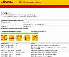 dhl sendungsvefolgung tracking support