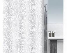 Duschvorhang Bestellen - textil duschvorhang 180x200 cm silber buchstaben spirella