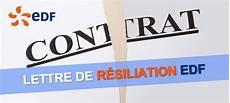 Numero Edf Resiliation Contrat Modele De Lettre Type
