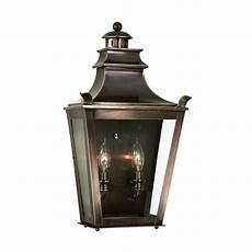 outdoor wall light with clear glass in english bronze finish b9494eb destination lighting