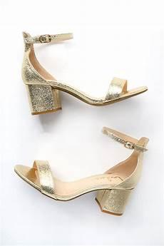 chic gold sandals single sole heels block heel sandals