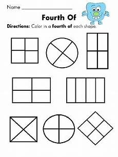 shapes in half worksheets 1140 color in a fourth of the shape and more worksheets like this halves equal parts etc all