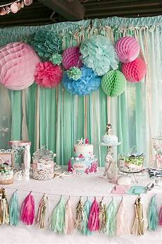 1st birthday decoration themes kara s ideas littlest mermaid 1st birthday