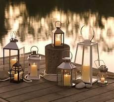 terrasse garten beleuchtung ideen metall laternen kerzen