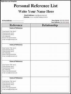 resume personal references exle list of references template cyberuse