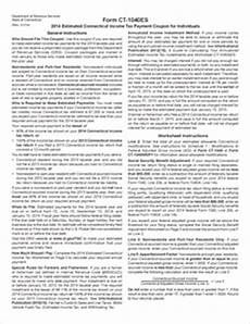form ct 1040es fillable 2014 estimated connecticut income tax payment coupon for individuals