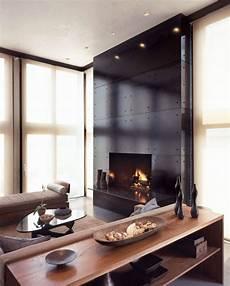 Kaminofen Design Modern - 56 clean and modern showcase fireplace designs