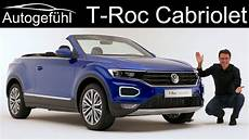 Vw T Roc Cabriolet Premiere Review Exterior Interior