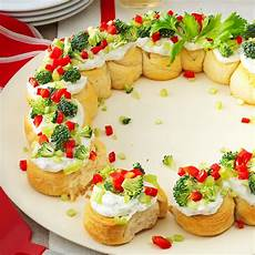 appetizer wreath recipe taste of home