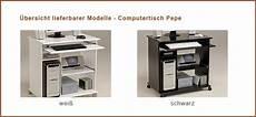 Computertisch Schwarz Pepe 2 76x76x50cm Pc Tisch