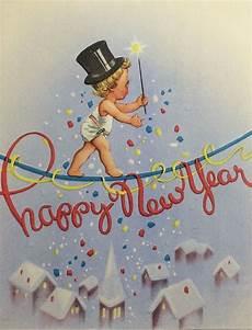 vintage happy new year card neujahrskarten gl 252 ckw 252 nsche