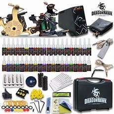 complete tattoo kit 2 top machines 40 color ink power