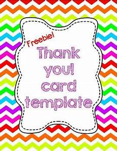thank you card template free photo free thank you card template tpt