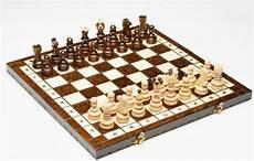 Schachspiel Aus Holz Figuren Schachbrett Edel