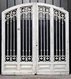 Large Wooden And Wrought Iron Door Doors