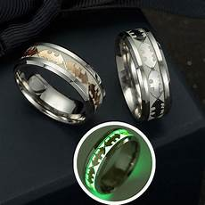 fashion stainless steel batman pattern ring new design luminous band ring glow in the dark for