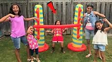 kids play inflatable limbo challenge with hzhtube kids fun