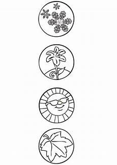 Vier Jahreszeiten Malvorlagen Word Malvorlage Jahreszeitensymbole Ausmalbild 7115