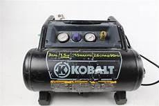 kobalt 3 gallon electric air compressor property room