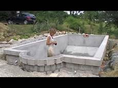 swimmingpool selber mauern homebuilt diy concrete block swimming pool pool selber bauen poolbau und garten