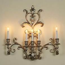 vintage italian silver five light sconce traditional