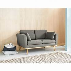 vintage sofa 2 sitzer grau timeo maisons du monde