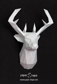3d Papier Hirsch 3d Origami Origami Dekoration Und 3d