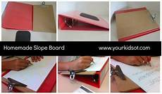 handwriting worksheets diy 21345 diy writing slope board 3 easy items to assemble your ot improve your handwriting