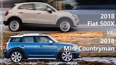 2018 fiat 500x vs 2018 mini countryman technical