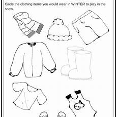 winter weather worksheets kindergarten 14603 winter weather wear preschool worksheet what would you wear on a cold day miniature masterminds