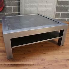 table basse metal table basse metal beton tablette rangement