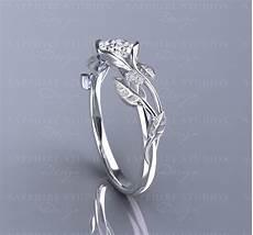 fleur 0 70ct gold flower vine engagement ring