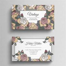 floral business card template photoshop floral vintage business card template psd file free