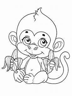 Malvorlagen Tiere Affen Monkey Coloring Pages And Print Monkey Coloring