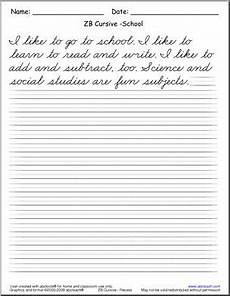 cursive handwriting read and write zb style font