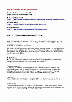 free 4 limited partnership agreement forms in pdf word