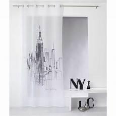 voilage sabl 233 imprim 233 new york blanc homemaison