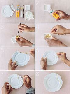 Porzellan Selber Reparieren - diy quot kintsugi quot gold crockery repair tutorial fall