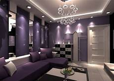 color your living room purple to get peace of mind home